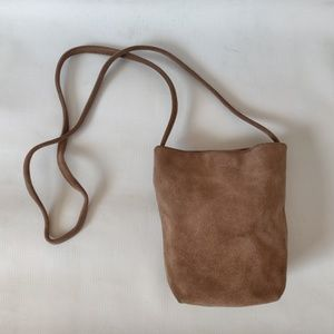 Taupe BAGGU Leather Crossbody Purse
